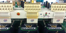 Embroidery machines working